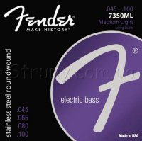 Fender 7350ML Stainless Steel Roundwound Medium Light Bass Strings 45/100