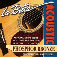 La Bella 7GP12XL Phosphor Bronze Acoustic Guitar 12-Strings 9/48