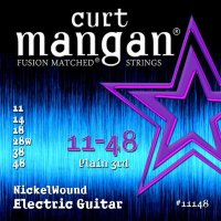 Curt Mangan 11148 Nickel Wound Electric Guitar Strings 11/48