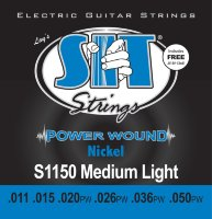 SIT S1150 Medium Light Power Wound Nickel Electric Guitar Strings 11/50