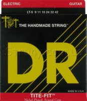 DR LT-9 Tite-Fit Nickel Plated Lite-n-Tite Electric Strings 9/42