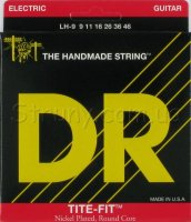 DR LH-9 Tite-Fit Nickel Plated Lite-n-Heavy Electric Strings 9/46
