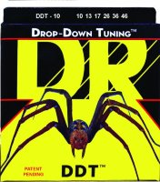 DR DDT-10 Drop-Down Tuning Nickel Plated Medium Electric Strings 10/46