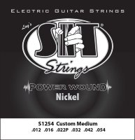 SIT S1254 Medium Light Power Wound Nickel Electric Guitar Strings 12/54