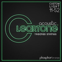 Cleartone 7411 Coated Phosphor Bronze Acoustic Guitar Strings Extra Light 11/52