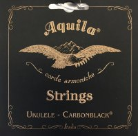 Aquila 144U Carbonblack Baritone Ukulele Strings High G