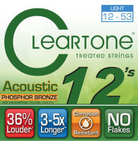Cleartone 7412 Coated Phosphor Bronze Acoustic Guitar Strings Light 12/53