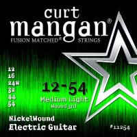 Curt Mangan 11254 Nickel Wound Electric Guitar Strings 12/54