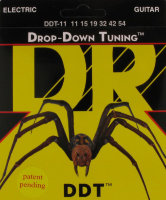 DR DDT-11 Drop-Down Tuning Nickel Plated Medium Electric Strings 11/54