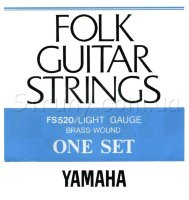 Yamaha FS520 Folk Guitar Strings Brass Wound 12/53
