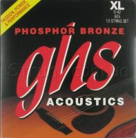 GHS 605 Phosphor Bronze Acoustic Guitar 12-Strings 9/42