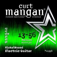 Curt Mangan 11356 Nickel Wound Electric Guitar Strings 13/56