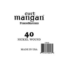 Curt Mangan 10040 40 Nickel Wound Ball End