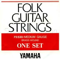 Yamaha FS530 Folk Guitar Strings Brass Wound 13/56