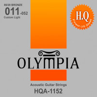 Olympia HQA-1152 80/20 Bronze Acoustic Guitar Strings Custom Light 11/52