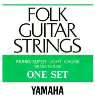 Yamaha FS550 Folk Guitar Strings Brass Wound 10/46