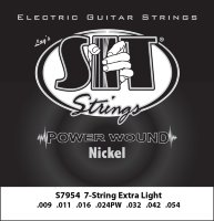 SIT S7954 Extra Light Power Wound Nickel Electric Guitar Strings 9/54