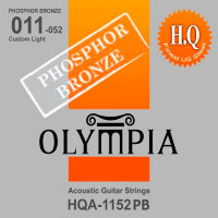 Olympia HQA-1152PB Phosphor Bronze Acoustic Guitar Strings Custom Light 11/52