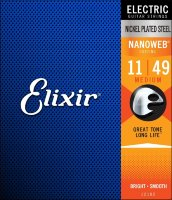 Elixir 12102 Nanoweb Nickel Plated Steel Medium 11/49