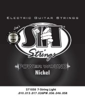 SIT S71058 Light Power Wound Nickel Electric Guitar Strings 10/58