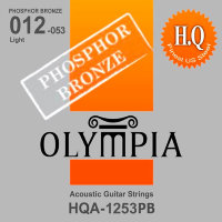 Olympia HQA-1253PB Phosphor Bronze Acoustic Guitar Strings Light 12/53