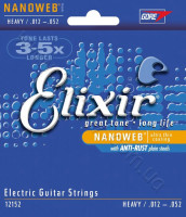 Elixir 12152 Nanoweb Nickel Plated Steel Heavy 12/52
