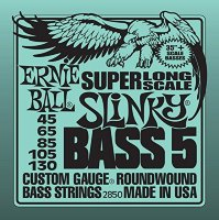 Ernie Ball 2850 5-String Super-Long Scale Nickel Wound 45/130