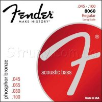Fender 8060 Phosphor Bronze Acoustic Bass Strings 45/100