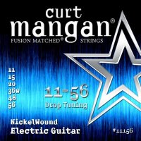 Curt Mangan 11156 Drop Tuning Nickel Wound Electric Guitar Strings 11/56