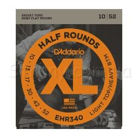 D'Addario EHR340 Half Rounds Light Top/Heavy Bottom 10/52