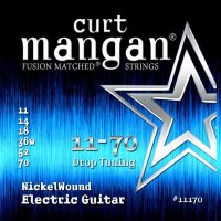 Curt Mangan 11170 Drop Tuning Nickel Wound Electric Guitar Strings 11/70