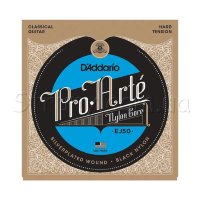 D'Addario EJ50 Classical Guitar Strings Black Nylon Hard Tension