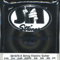 SIT S81070 Eight Power Wound Nickel Electric Guitar Strings 10.5/70