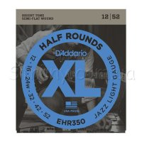 D'Addario EHR350 Half Rounds Jazz Light 12/52