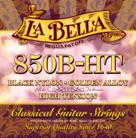 La Bella 850B-HT Elite Black Nylon Golden Alloy High