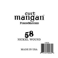 Curt Mangan 10058 58 Nickel Wound Ball End