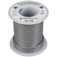 Consolidated 9305-8 Gray Провод ПВС PVC 24AWG UL1061 600V