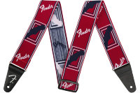 "Fender 2"" WEIGHLESS MONOGRAMMED STRAP RED/WHITE/BLUE Ремень"