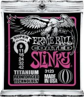 Ernie Ball 3123 Coated Titanium RPS Super Slinky Electric Guitar Strings 9/42