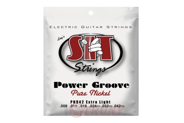 SIT PN942 Extra Light Power Groove Pure Nickel Electric Guitar Strings 9/42