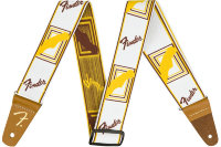 "Fender 2"" WEIGHLESS MONOGRAMMED STRAP WHITE/BROWN/YELLOW Ремень"