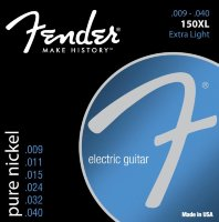 Fender 150XL Pure Nickel Extra Light Electric Electric Guitar Strings 9/40