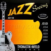Thomastik-Infeld JS110 Jazz Swing Extra Light  Flatwound Electric Guitar Strings 10/44