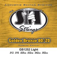 SIT GB1252 Light 80/20 Bronze Acoustic Guitar Strings 12/52