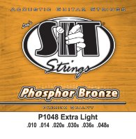 SIT P1048 Extra Light Phosphor Bronze Acoustic Guitar Strings 10/48
