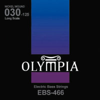 Olympia EBS-466 Nickel Wound Long Scale Electric Bass Strings 30/125