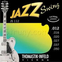 Thomastik-Infeld JS112 Jazz Swing Medium Light Flatwound Electric Guitar Strings 12/50