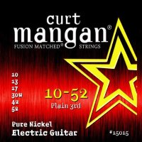 Curt Mangan 15015 Pure Nickel Electric Guitar Strings 10/52